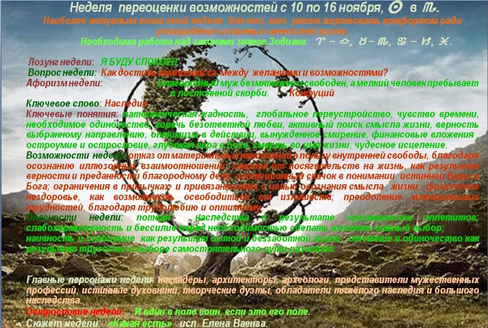Астрологический прогноз на 10 ноября- 16 ноября 2014 года
