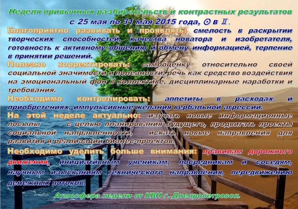Астрологический прогноз  на 18 мая—24 мая 2015 года